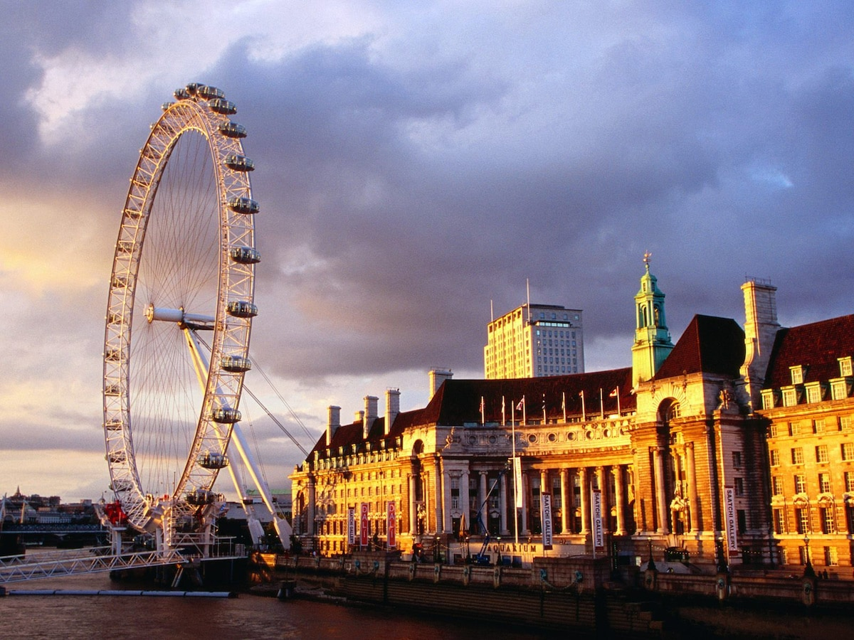 The London Eye is across the river and 15 min walk.