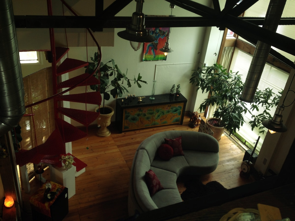 View of Living room from upstairs loft