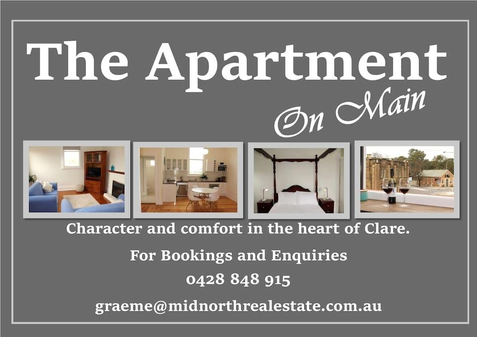 The Apartment on Main - Clare - Appartement