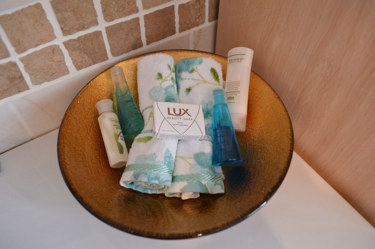 Complimentary toiletries for all guests.