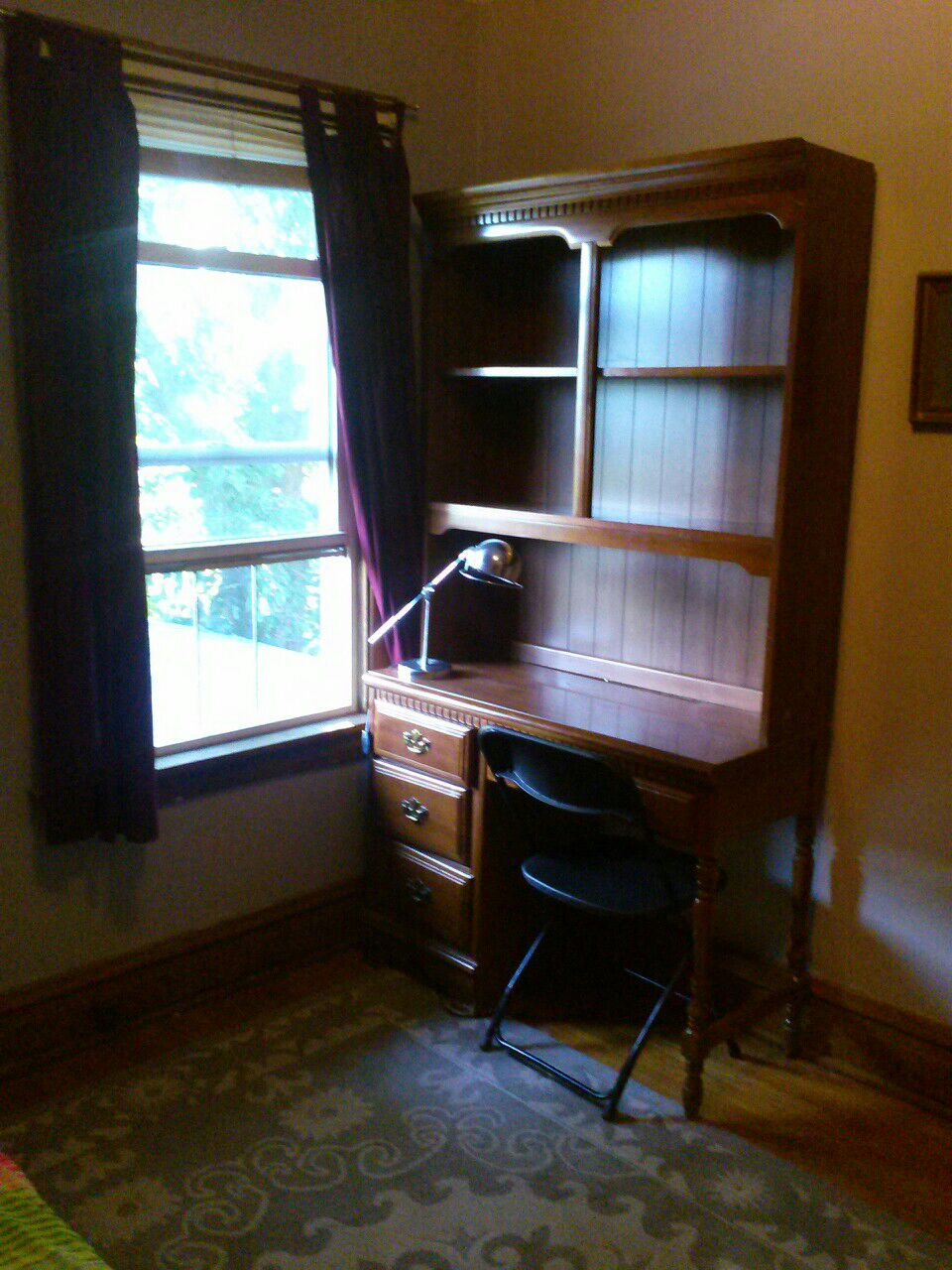 Desk with bookcase. Photo updated June 26, 2014