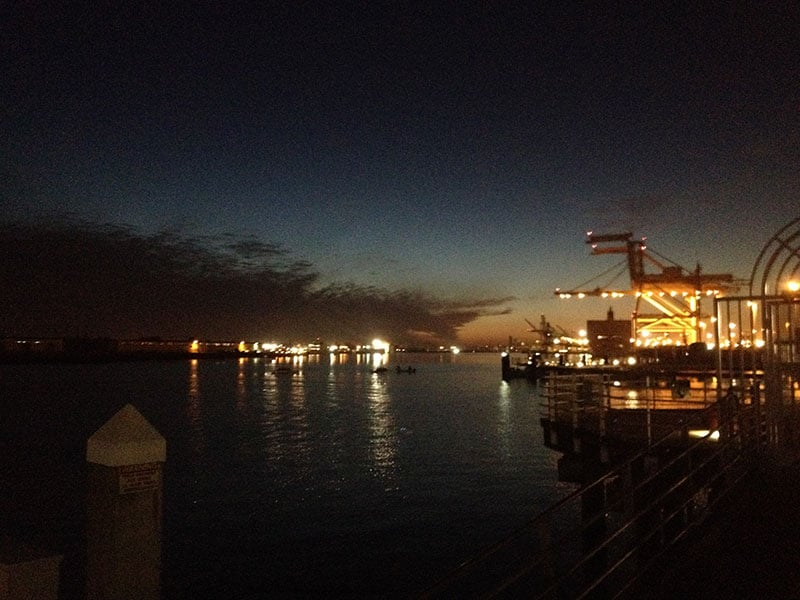 Sunset view from Jack London Square location.