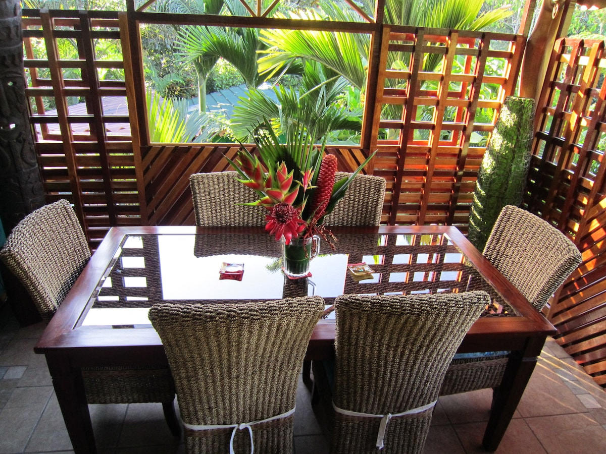 Dining table where breakfast is served each morning