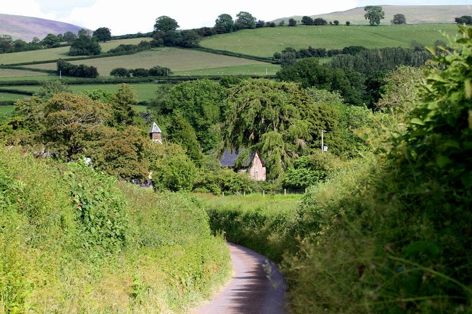 A short walk along our lane takes you to Llandefealog-tre'r-Graig