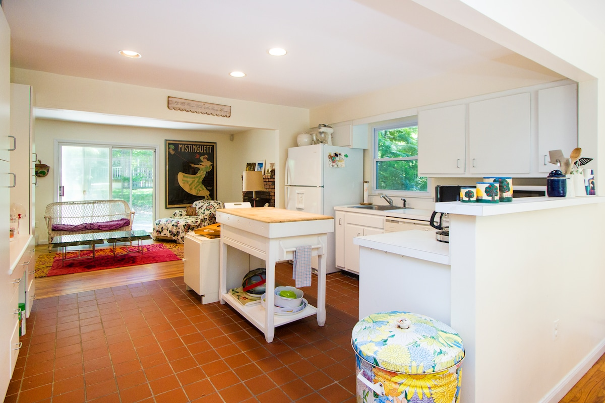 Gourmet kitchen with microwave