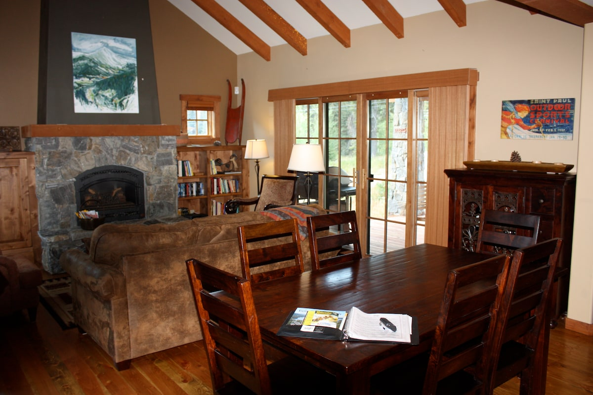 View of Great Room including dining table.