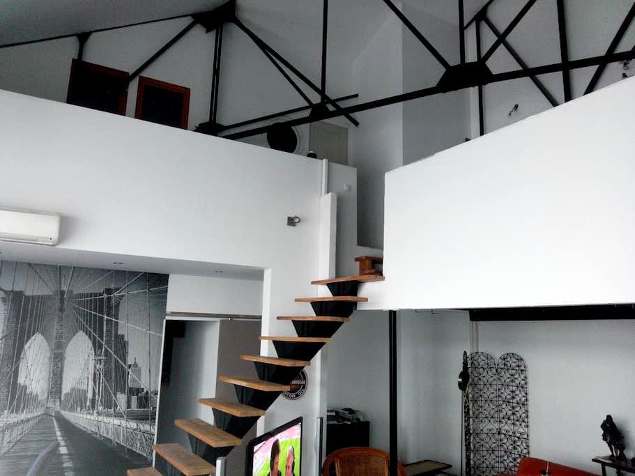 Chambre dans un loft de 230m2 - Lille - Apartment