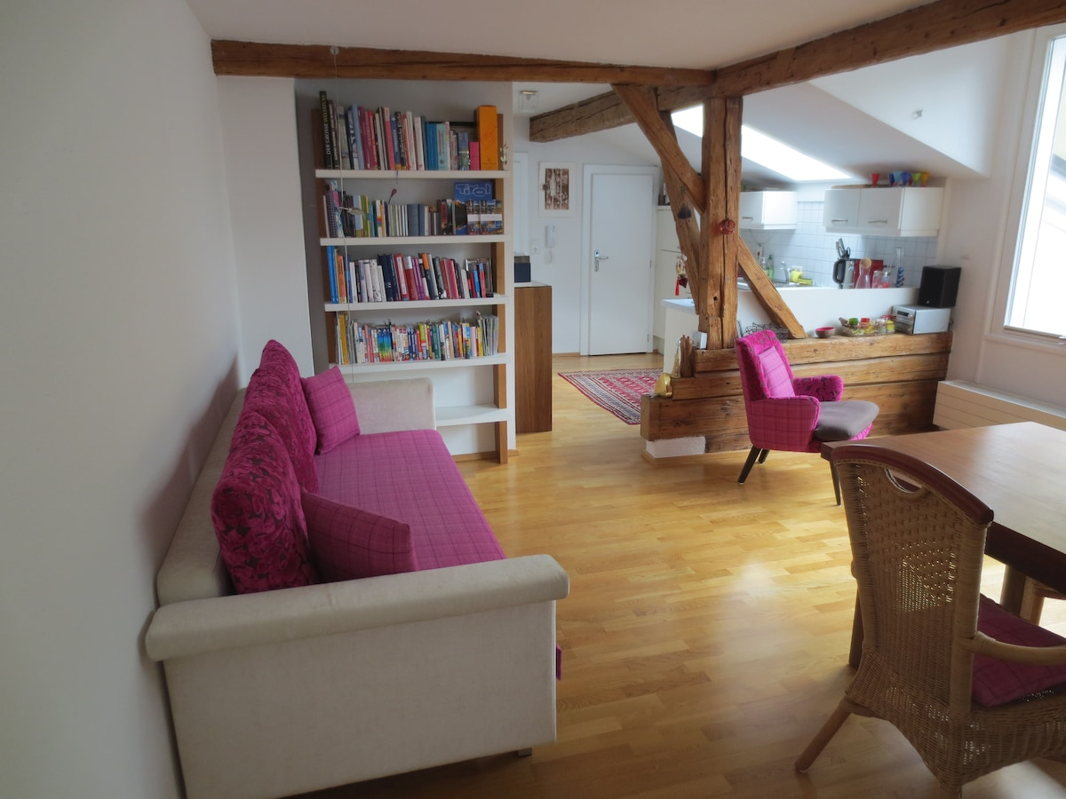Living- Dining Area with Sofa Bed