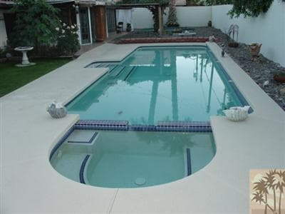 Lap pool and heated spa