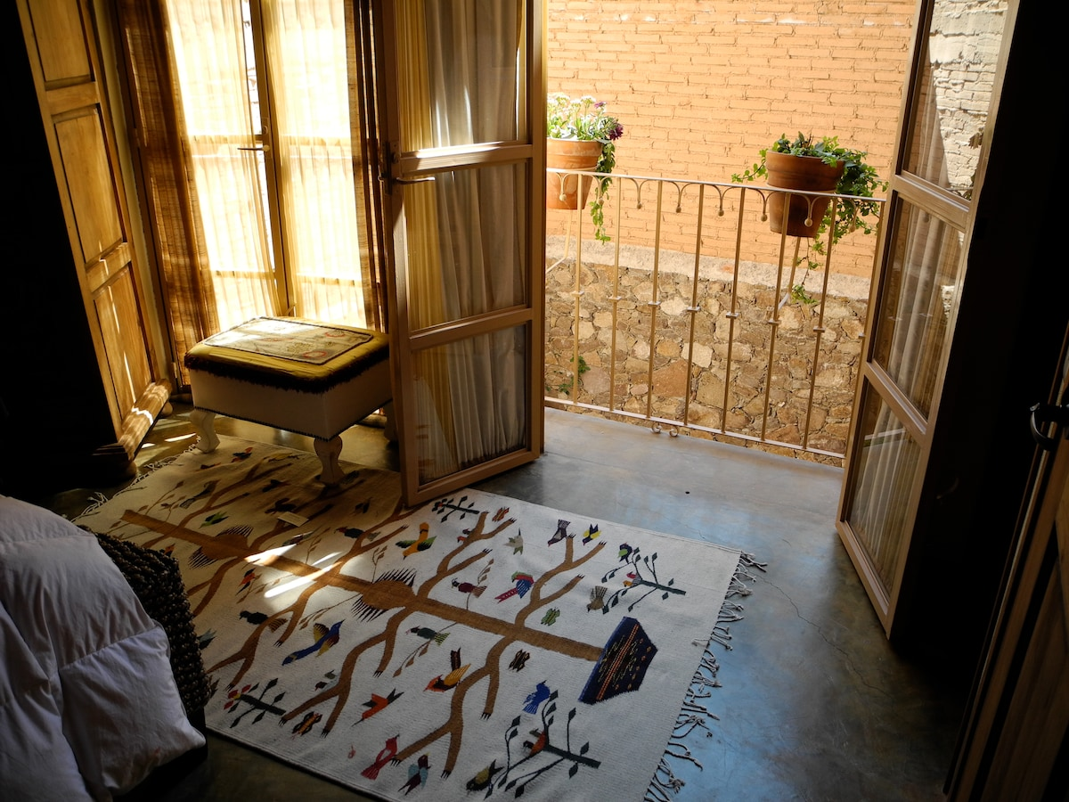 View from French Doors Overlooking Courtyard