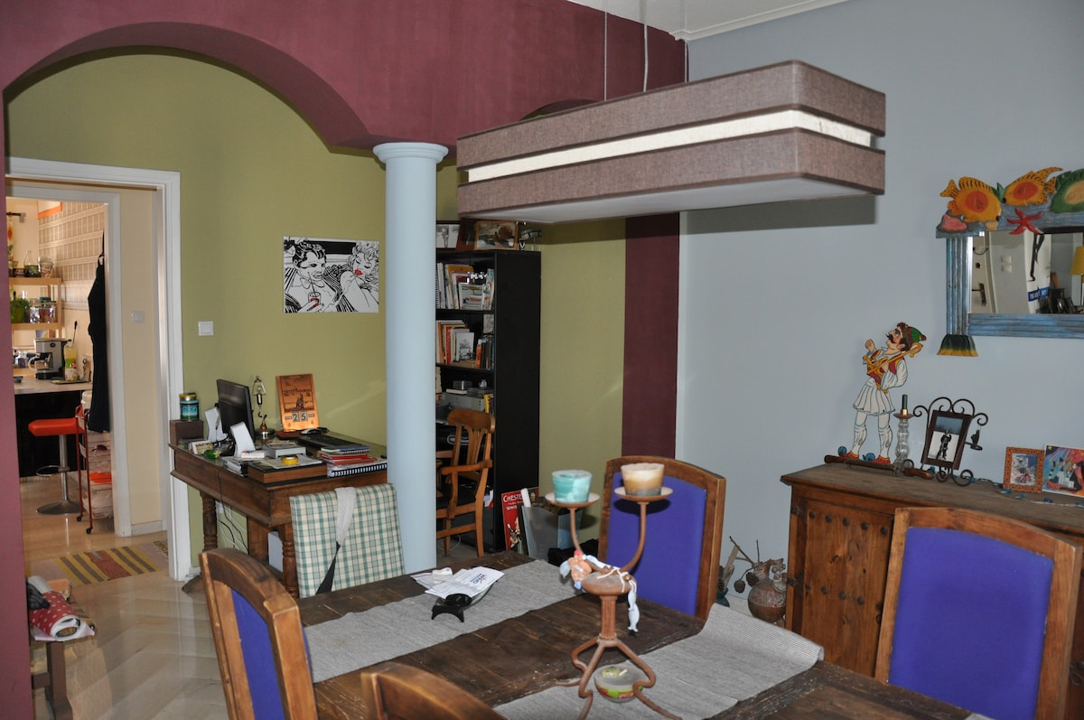Dining space and office corner