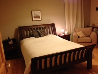 Restful and spacious main bed (kingsize) with en-suite and walk-in wardrobe.