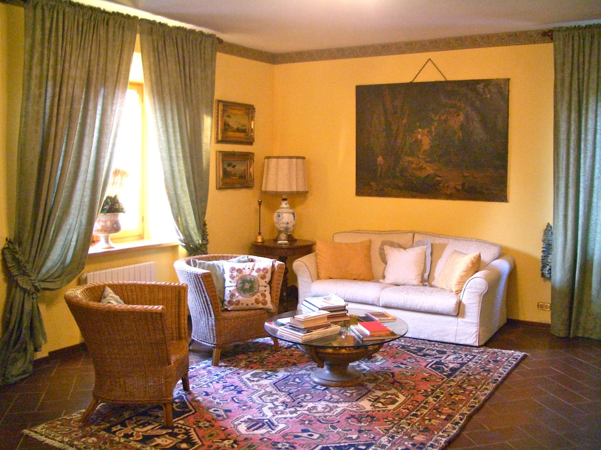 living room on the ground floor