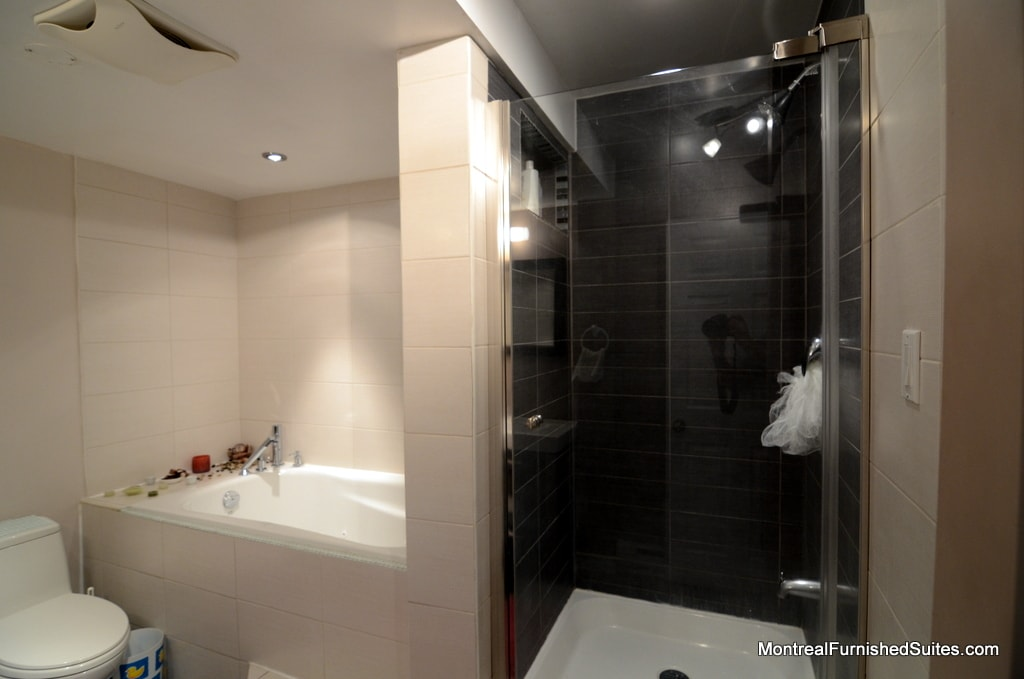 Bathroom with shower and jacuzzi