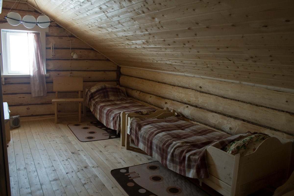 A room for 4 guests on the second floor