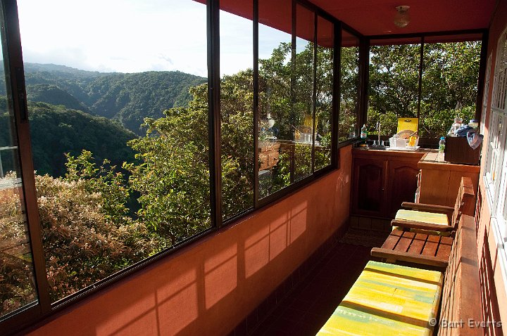 This balcony features an incredible view over the tree tops to the mountains on the other side of the valley and faces east for a great sunrise.