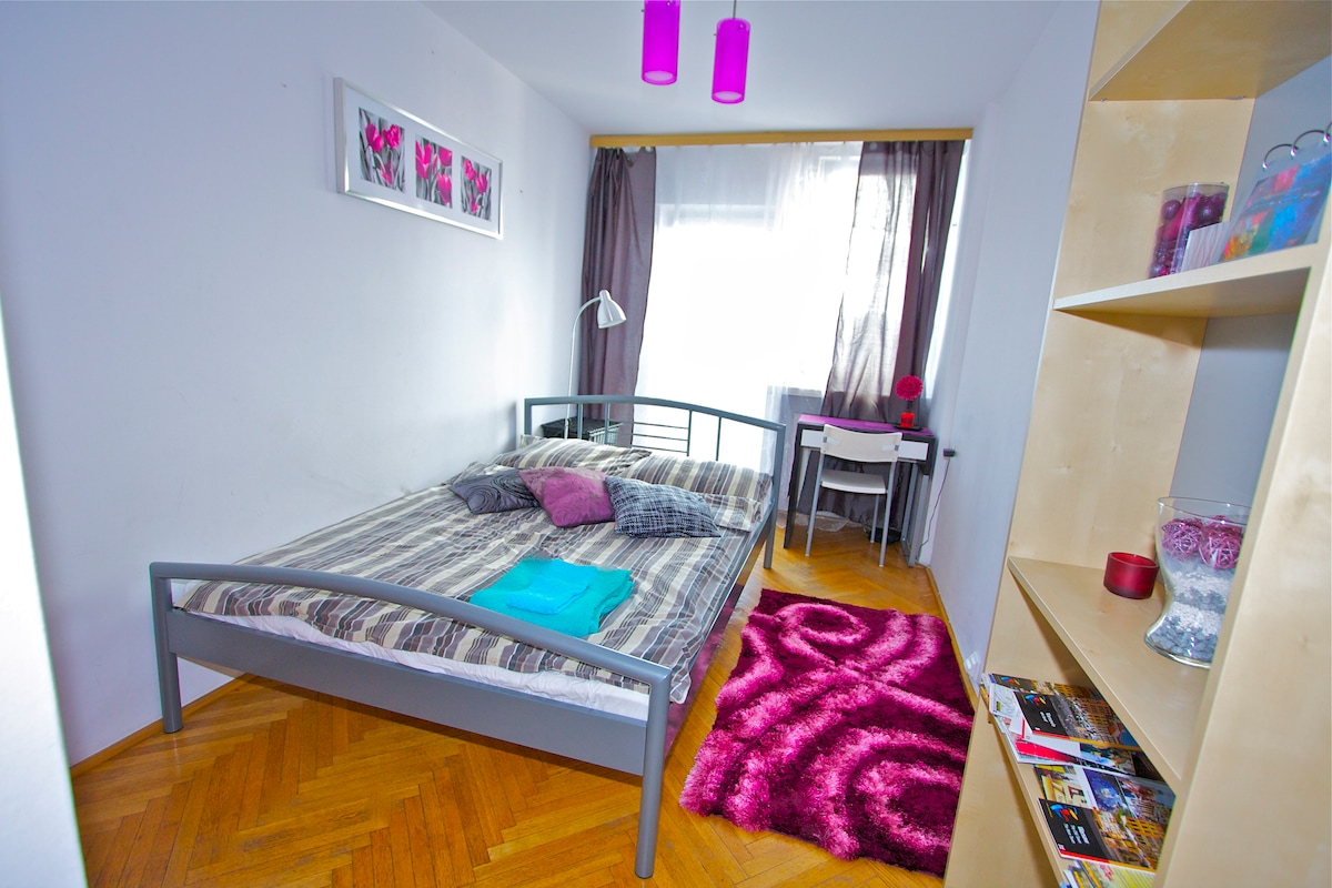 Separate bedroom with a new comfortable double bed