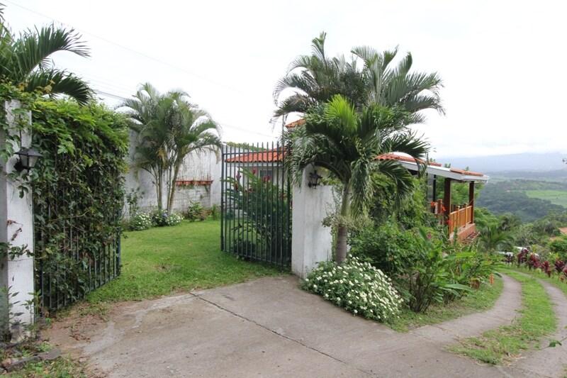 Gates and yard, north view