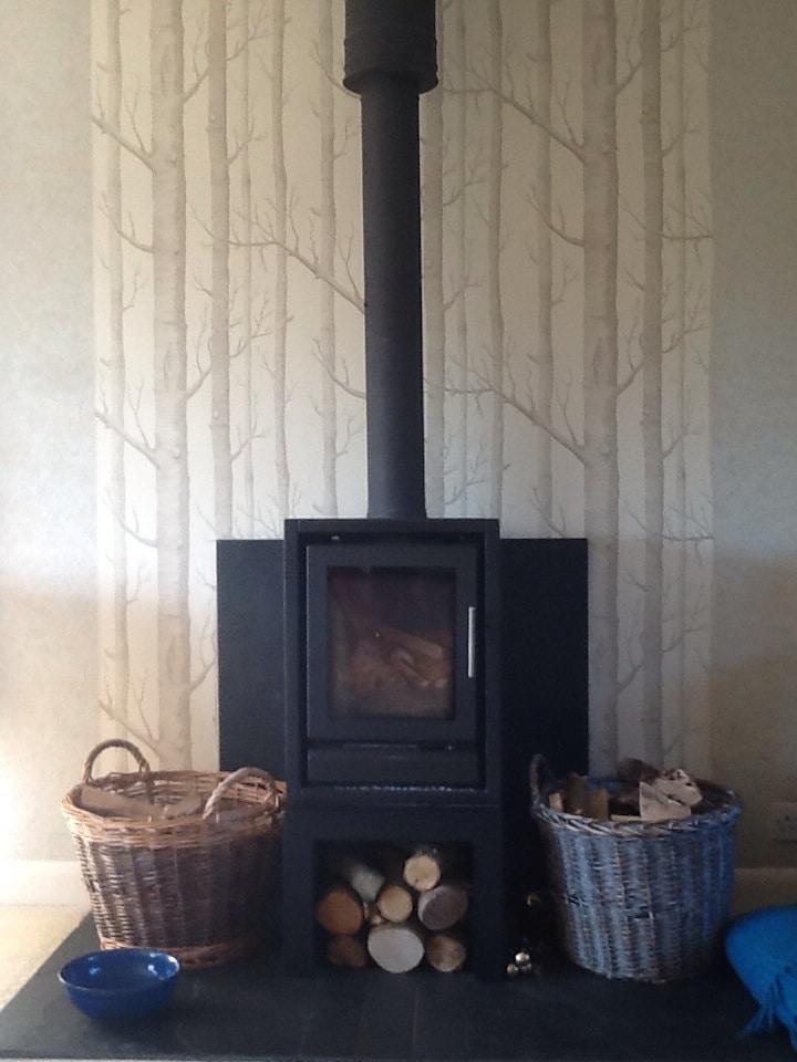 log burner in sitting room