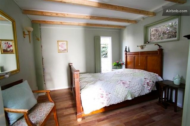 bedroom with antique 2-persons bed