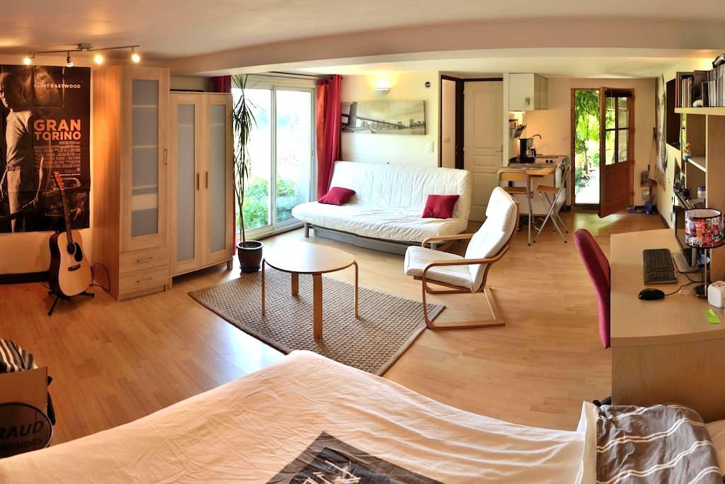 Studio, terrasse, histoire, nature. - Dargoire
