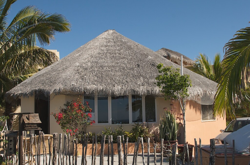 Baja palm-roof construction. A fun, novel experience.
