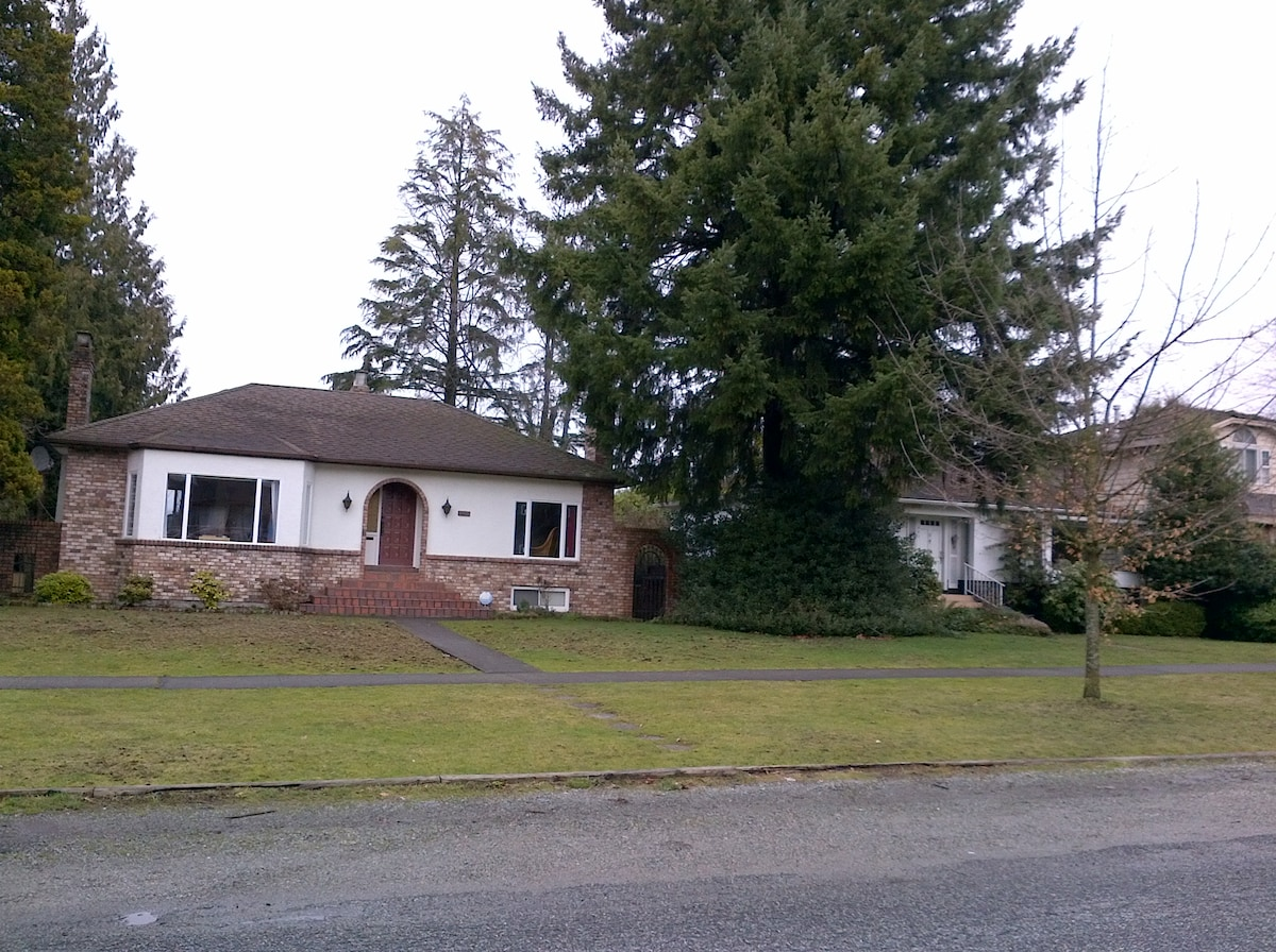 Spacious house on big lot, with easy street parking right in front of our door