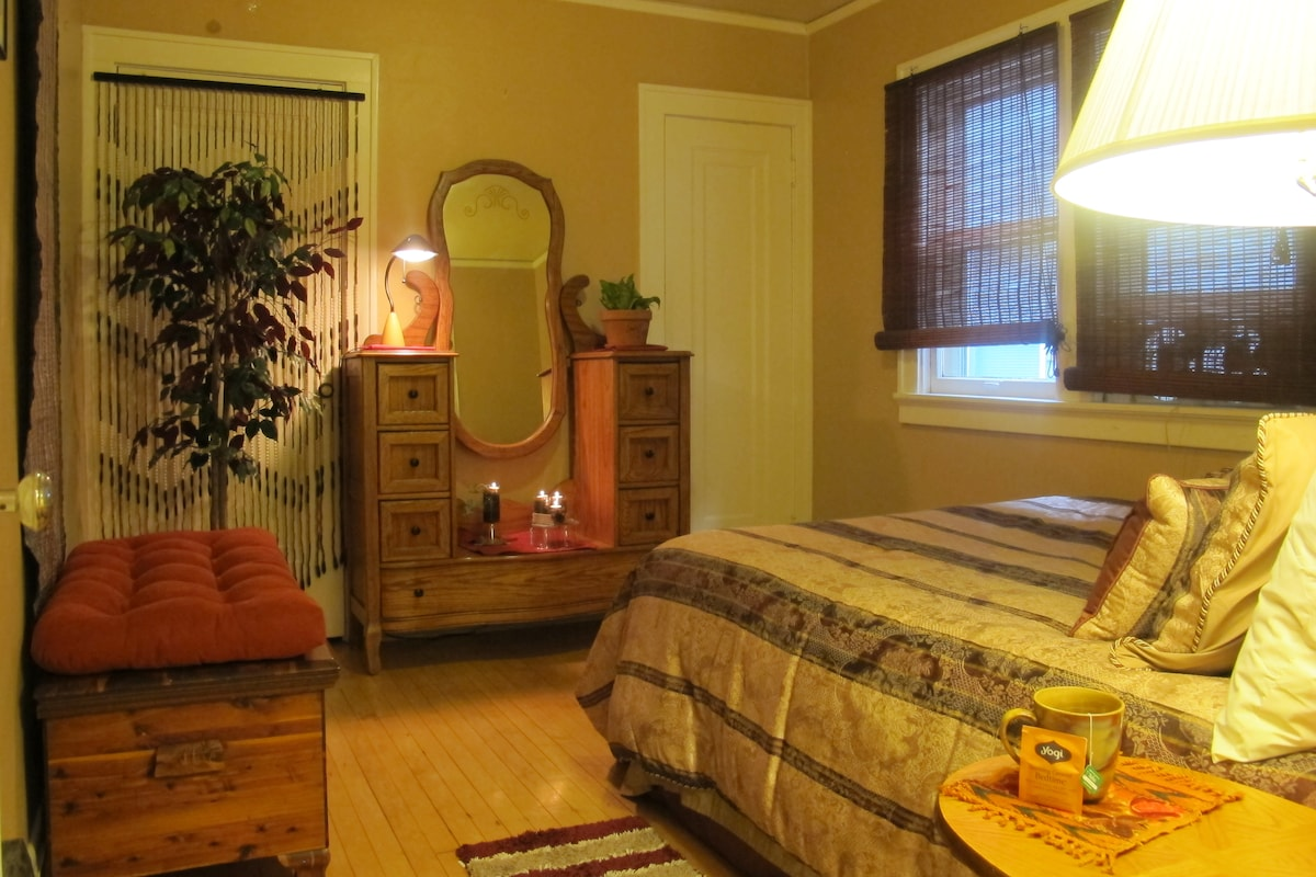 Warm peaceful room gives comfort!