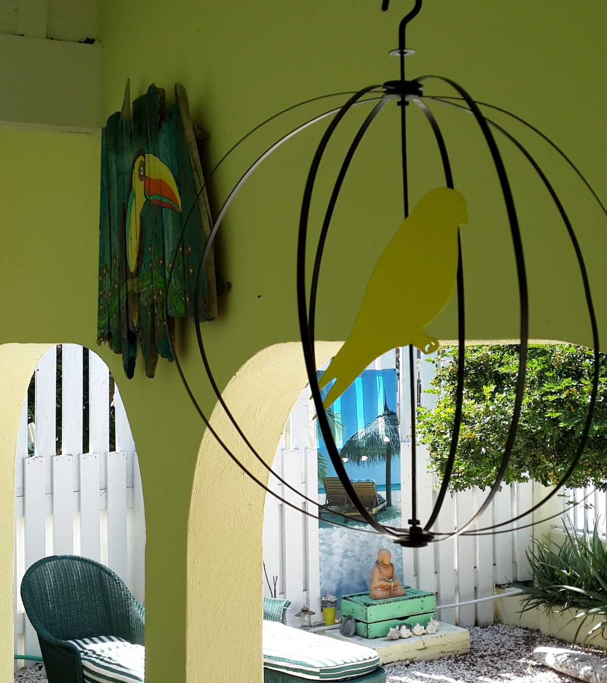 Casa Dora treats you to colorful Caribbean art.