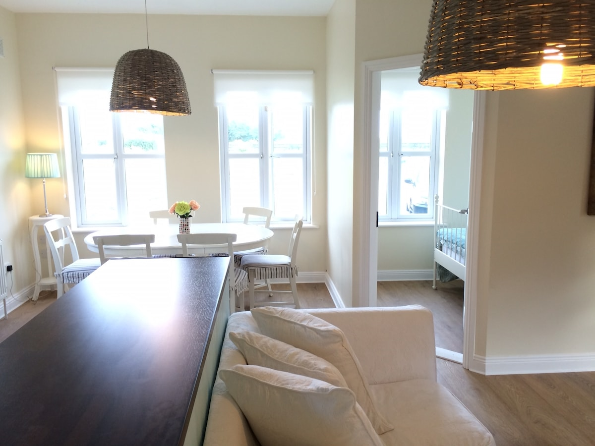 Bright dining area