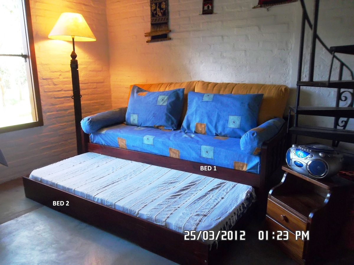 At first floor two new extra beds (Standard Size) as sofa / Cama marinera