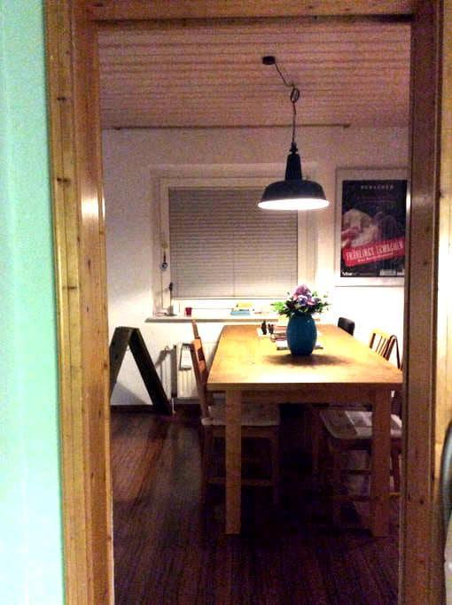 Gemütliches Zimmer mit Küche , Bad, Garten..... - Gifhorn - Bed & Breakfast