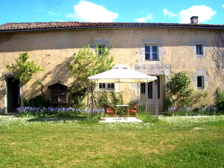 East wing of an elegant town house - Châteauneuf-sur-Charente - Appartement