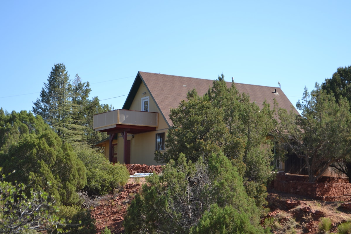 View of the house from the property