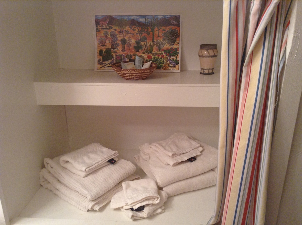 Plush towels and mats to cozy up with after your shower.