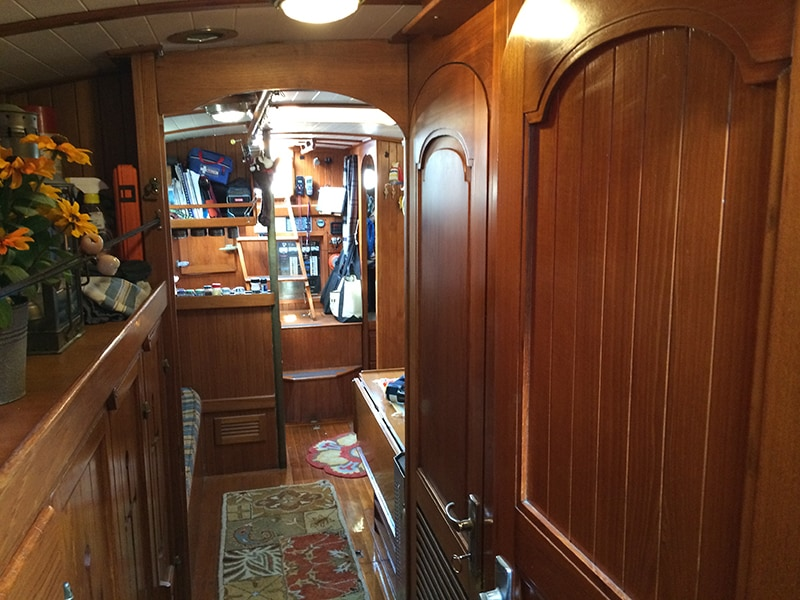 Companionway from bedroom looking aft.