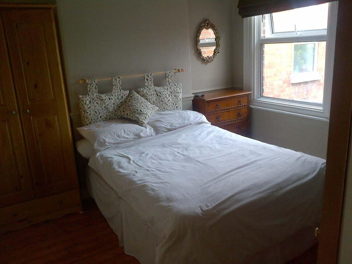 Large double room, village setting.