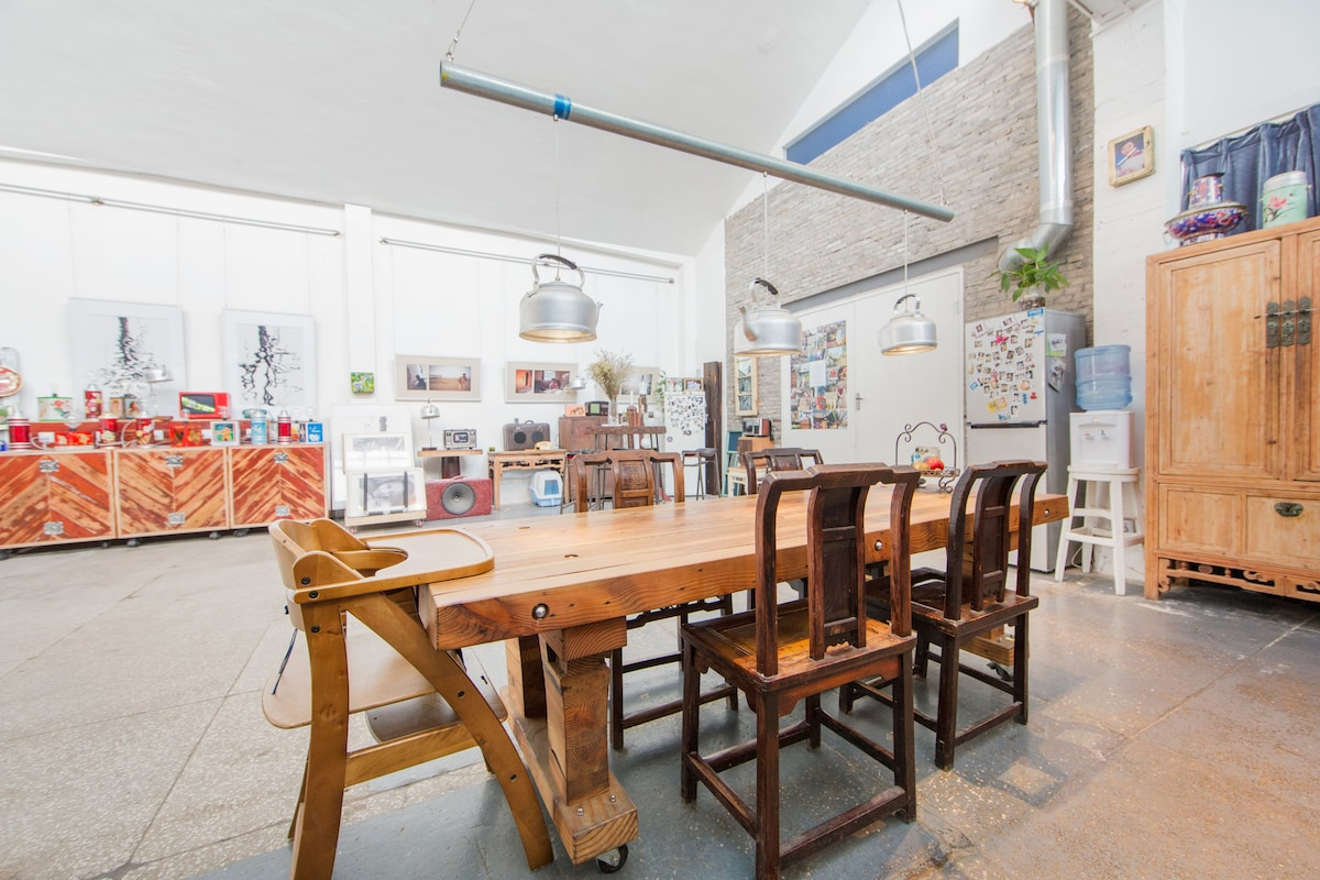 Dining area and the social meeting point of our loft…