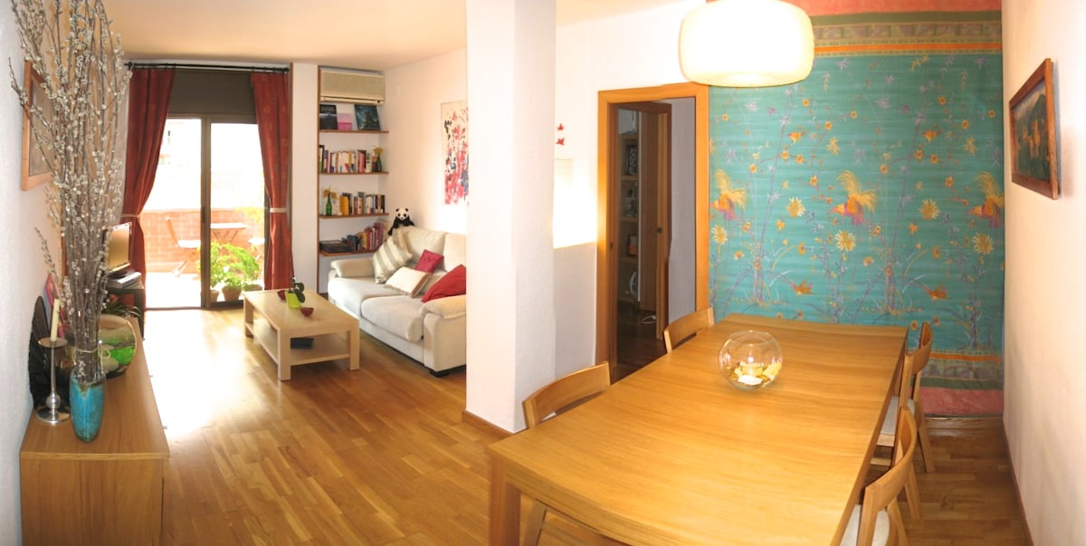 Bright and quiet 80m2 apartment BCN