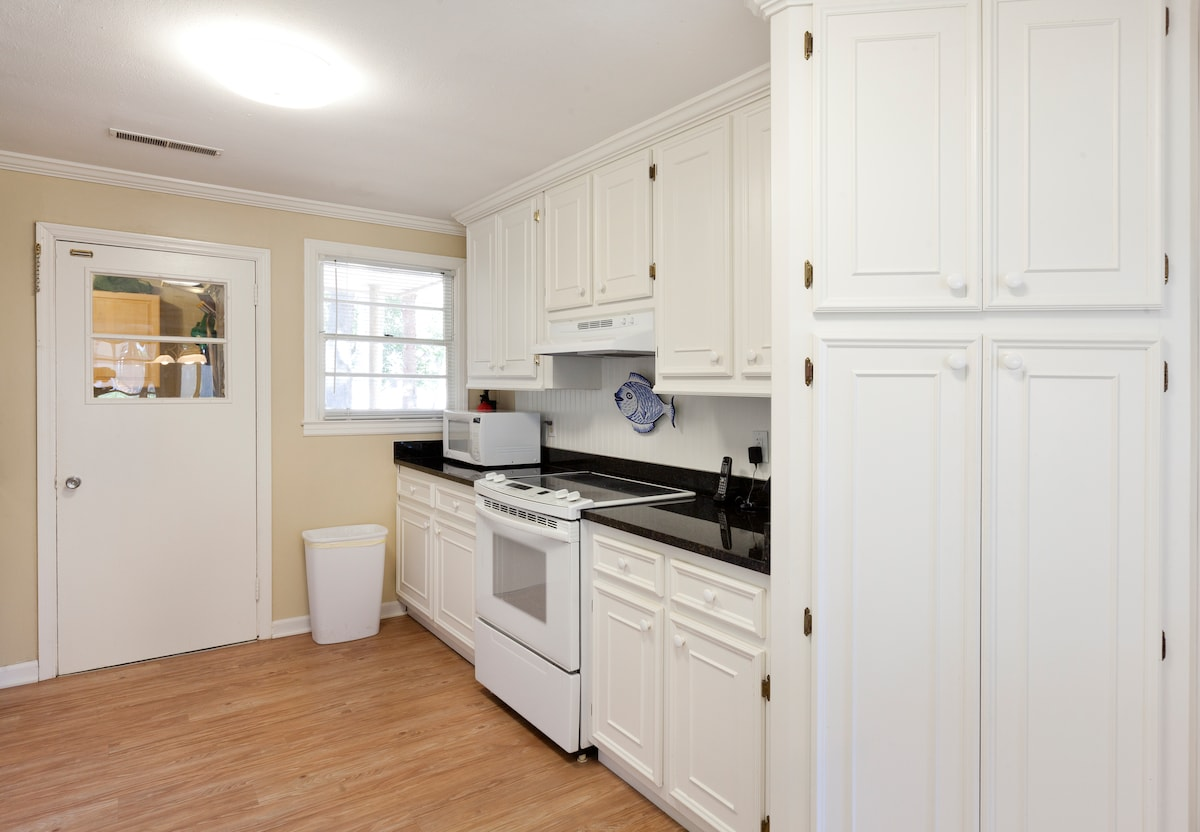 Newly remodeled kitchen with new appliances.