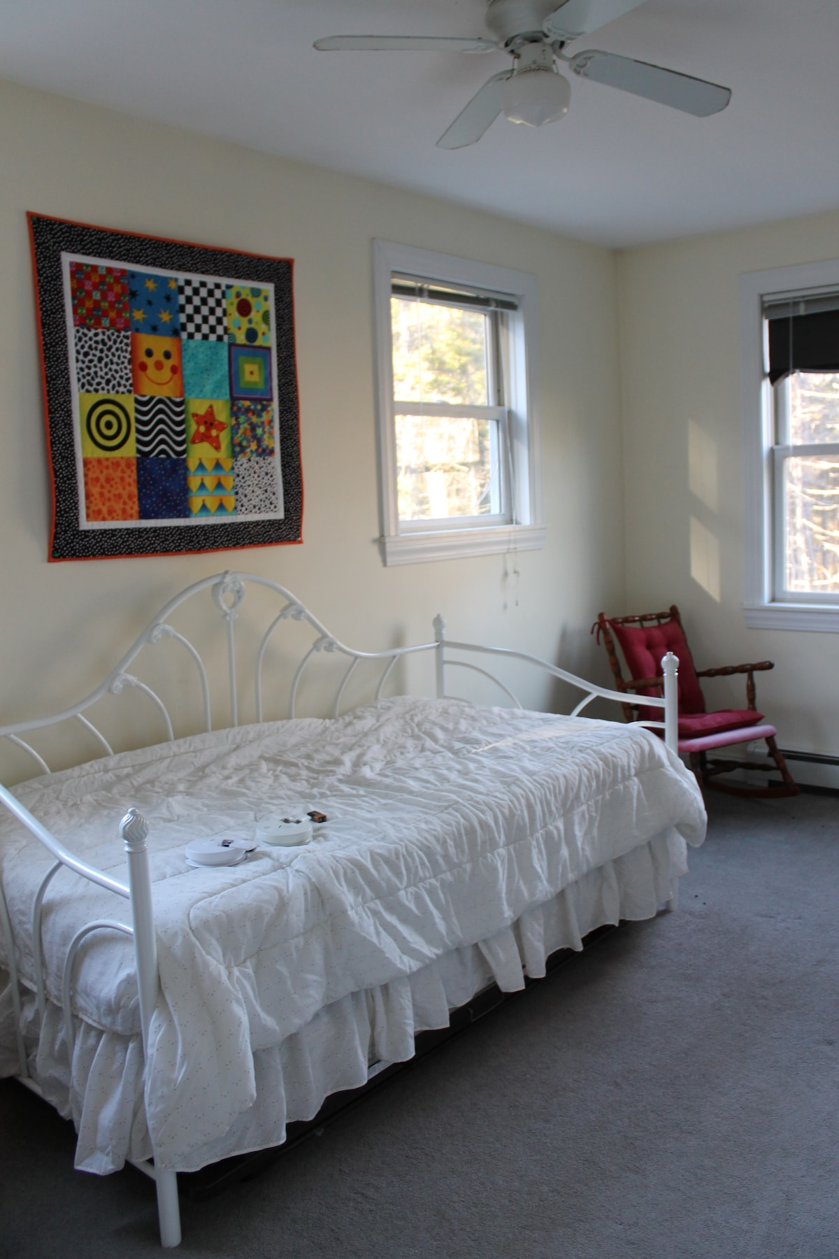 Third bedroom with a twin day bed and trundle.