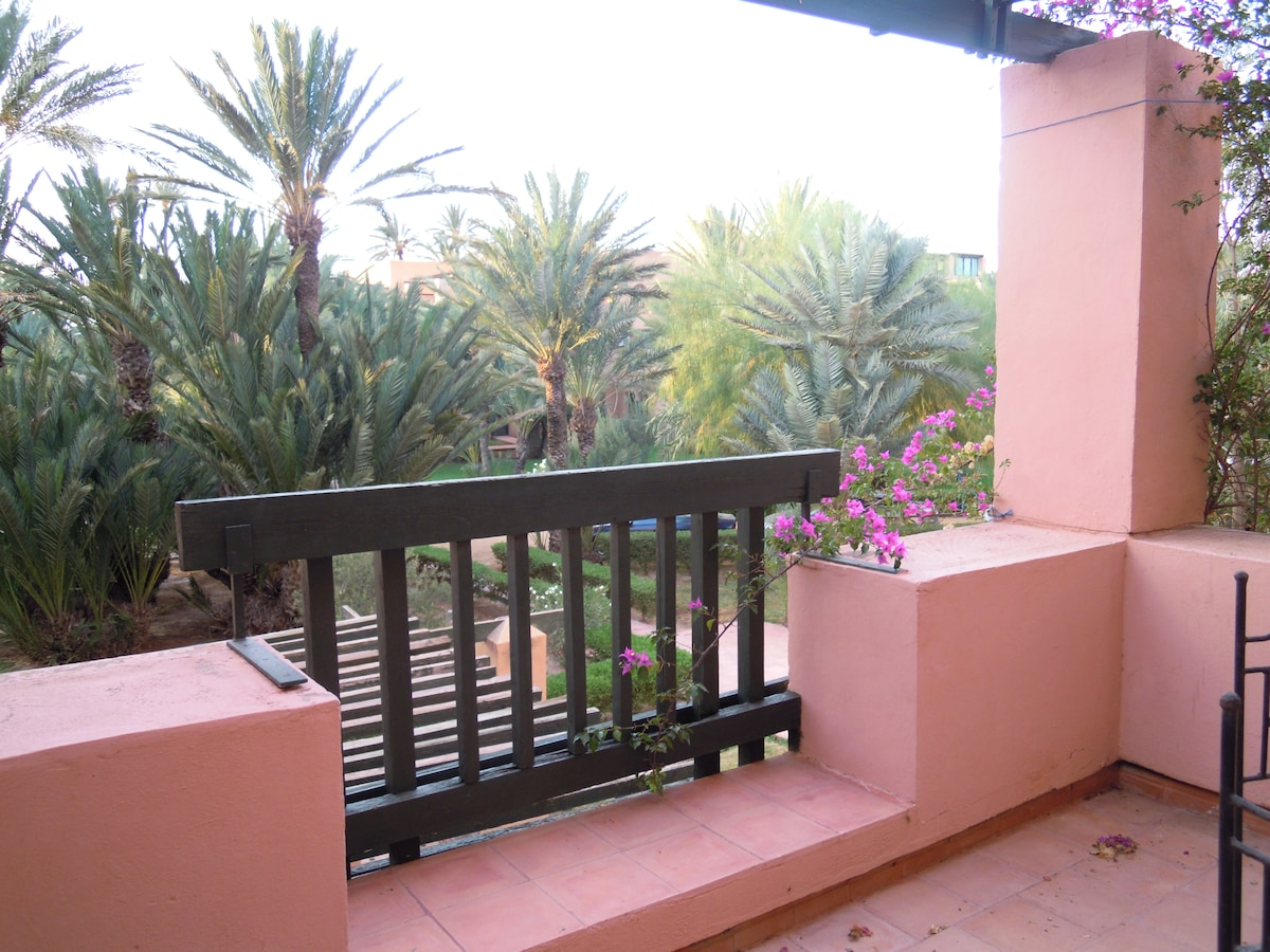 A terrace in the Palm Trees