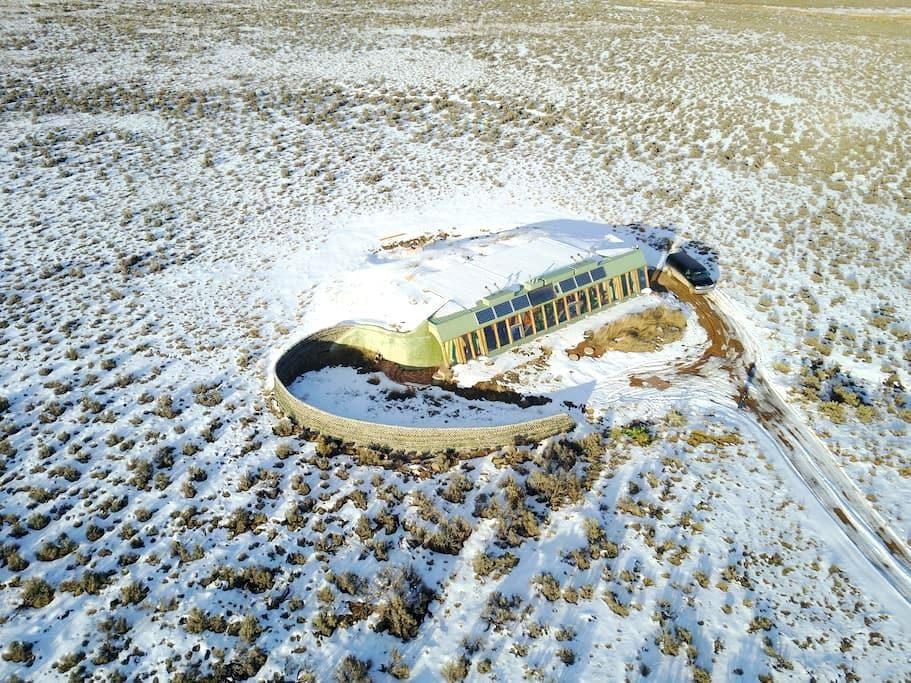 Spectacular Taos Earthship - El Prado - Aarde Huis