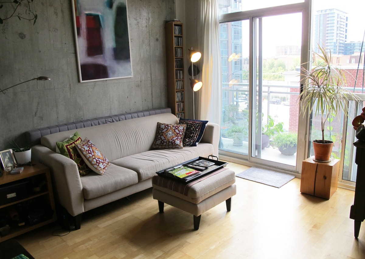 Spacious two-level loft condo