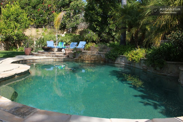 Lounge by the pool, cool off and enjoy the day