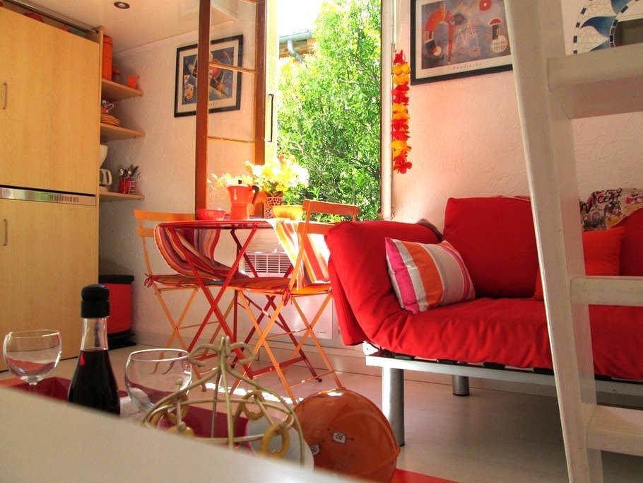 Romantic studio free wifi in center - Collioure