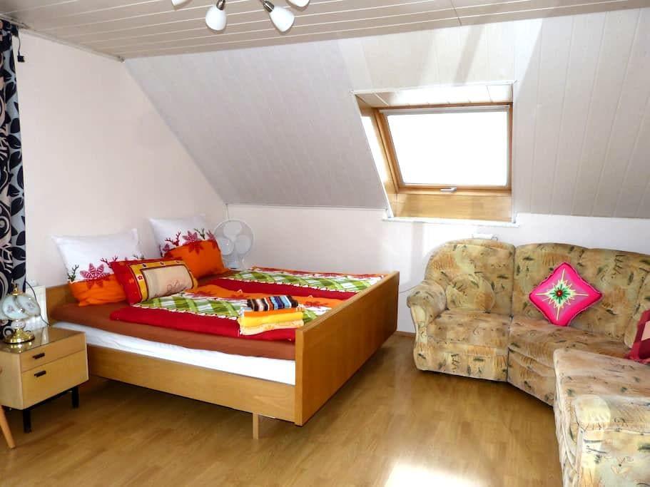 großes helles Zimmer mit Balkon - Ölbronn-Dürrn - Dom