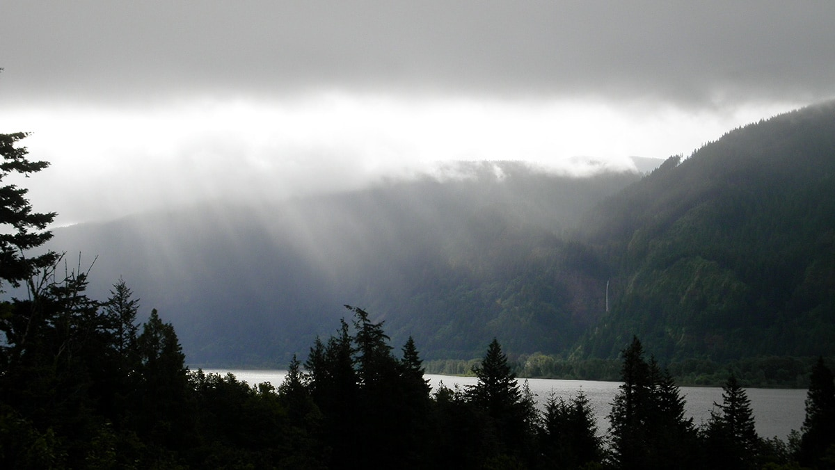 Morning in the Gorge (from the back patio)