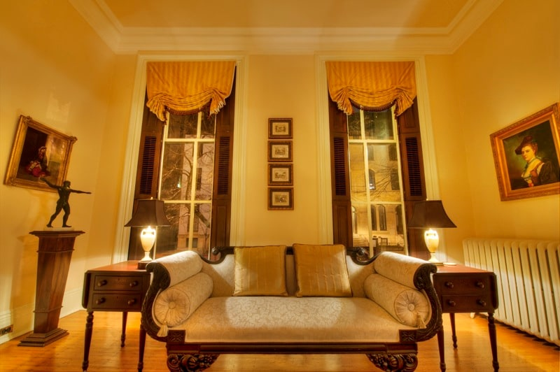 You are welcome to lounge in the front parlor.