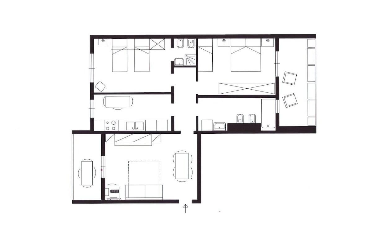 Planimetria appartamento -- Apartment floorplan